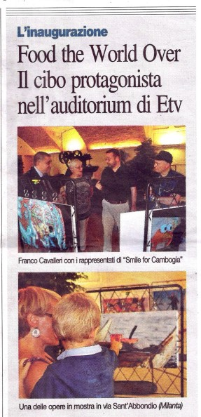 2015 08 06 Articolo Corriere Sera Food the World Over (2)
