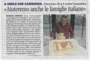 2016 03 07 Articolo Giornale Cantù Pranzo Sociale