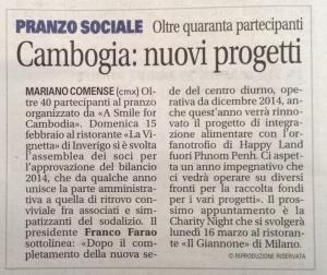 Articolo Giornale Cantù 2015 02 21 -s