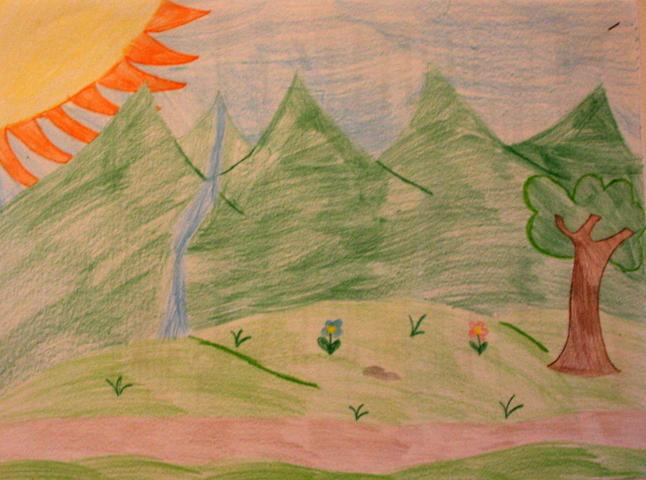 Paesaggio di montagna francesca sironi s a smile for for Piccoli disegni di baite di montagna